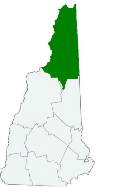 Drawing of NH with Coos County highlighted